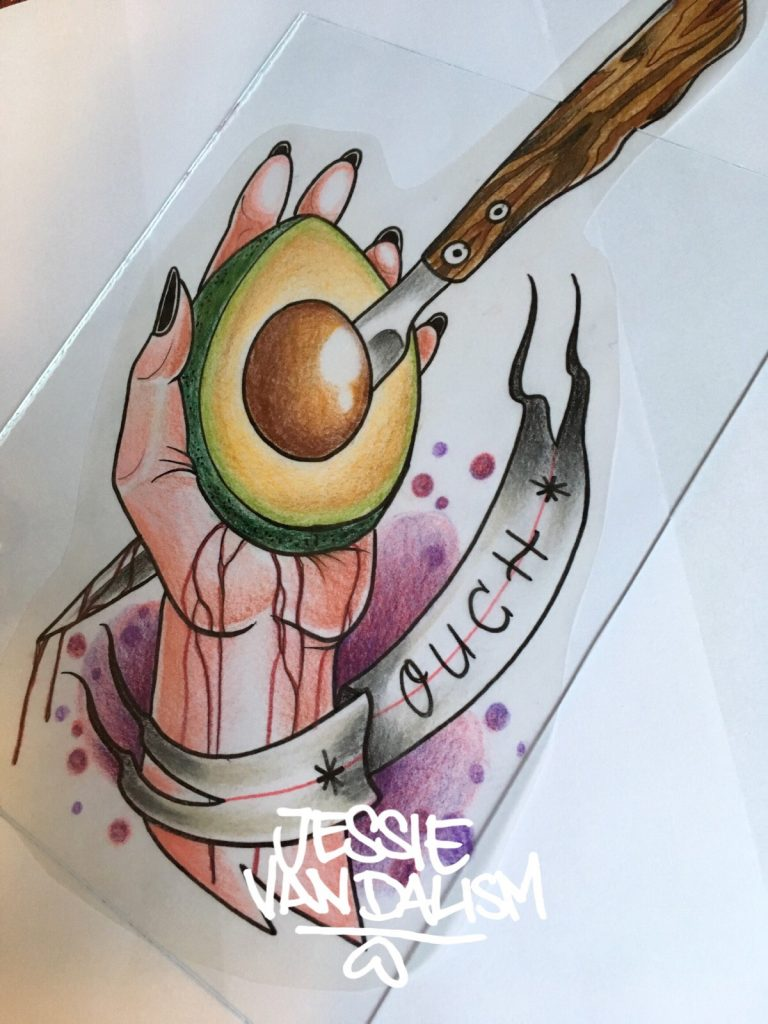 Tattoo Artist Jessie Vandalism auf dem Mädelsflohmarkt